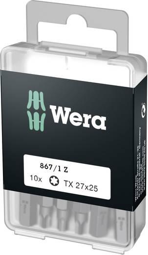 Torx-bit T 27 Wera 867/1 Z DIY SiS Gereedschapsstaal gelegeerd, taai D 6.3 10 stuks