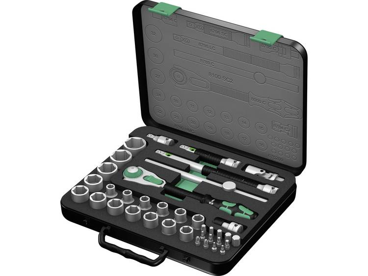 Wera 37-delig 8100 SC 2 Zyklop ratelset 1-2 05003645001