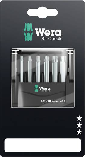 Bitset 6-delig Wera Mini-Check TX, 50 mm 05073637001 Torx