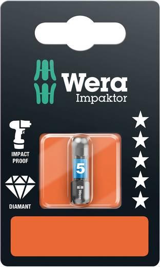Inbus-bit 4 mm Wera 840/1 IMP DC Hex-Plus SW 4,0 x 25 mm SB Gereedschapsstaal gelegeerd, Diamant gecoat D 6.3 1 stuks