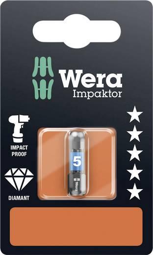 Inbus-bit 5 mm Wera 840/1 IMP DC Hex-Plus SW 5,0 x 25 mm SB Gereedschapsstaal gelegeerd, Diamant gecoat D 6.3 1 stuks