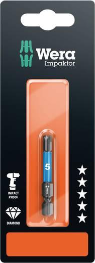 Inbus-bit 4 mm Wera 840/4 IMP DC Hex-Plus SW 4,0 x 50 mm SB Gereedschapsstaal gelegeerd, Diamant gecoat F 6.3 1 stuks