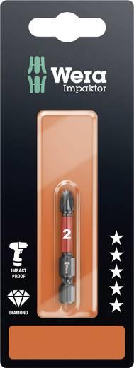 Wera 851/4 IMP DC PH 2 x 50 mm SB Kruis-bit PH 2 Gereedschapsstaal gelegeerd, Diamant gecoat F 6.3 1 stuks