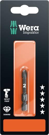 Wera 855/4 IMP DC PZ 2 x 50 mm SB Kruis-bit PZ 1 Gereedschapsstaal Diamant gecoat F 6.3 1 stuks