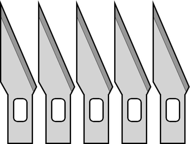 Image of 5 vervangende messen voor ontwerpers mes Donau Elektronik MS05