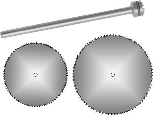 Donau Elektronik 2 cirkelzaagbladen Ø 12 + 19 mm met opspandoorn 1640
