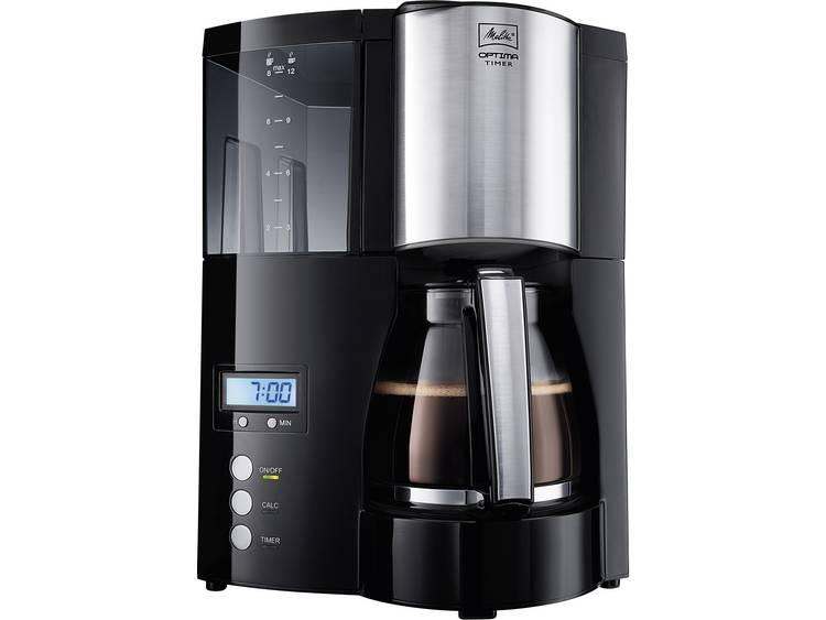 Melitta Optima Timer black Koffiezetapparaat Zwart Capaciteit koppen: 12 Timerfunctie