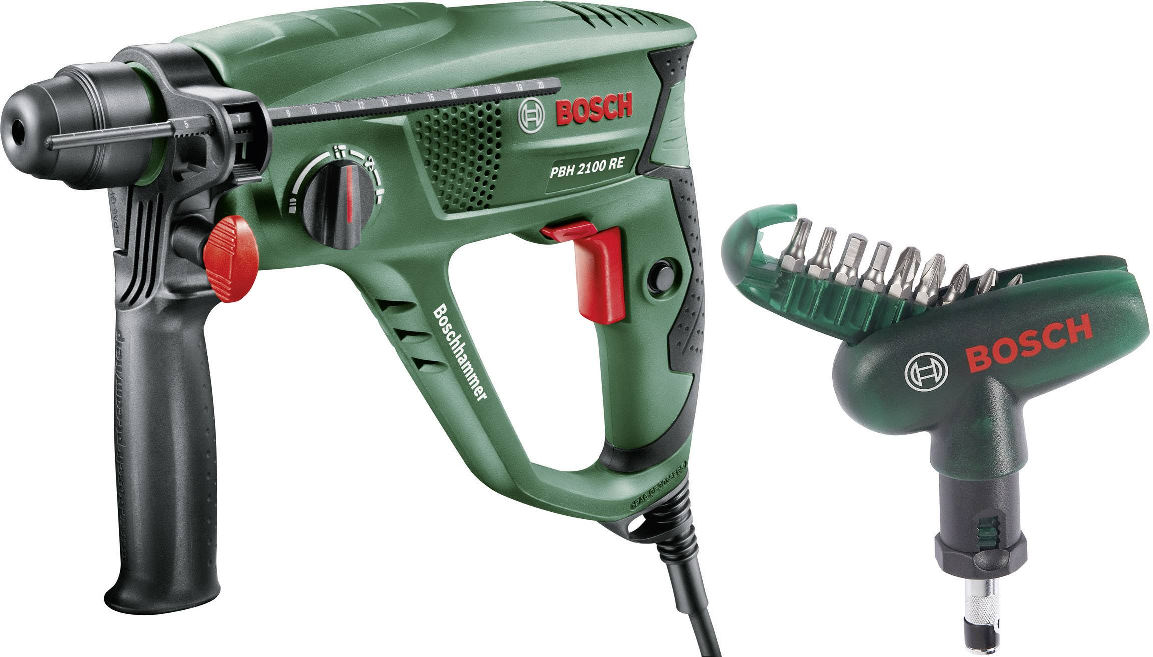 Magnifiek Bosch PBH 2100 RE Boorhamer 550 W Incl. 10-delige schroefbitset WQ49