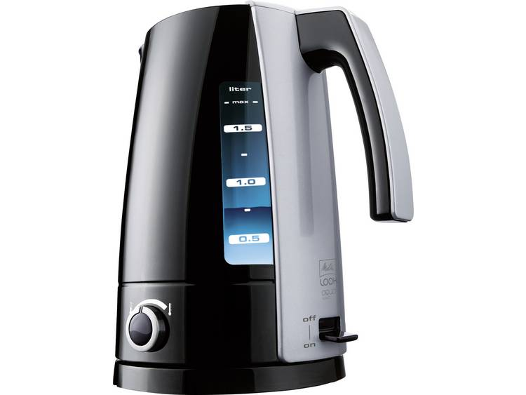 Melitta LOOK Aqua Vario sw-si Waterkoker Met handmatige temperatuursinstelling Zwart, Zilver