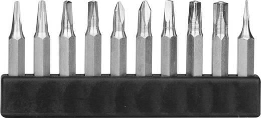 Bitset 10-delig Donau MBS69 MBS69 Binnen-vierkant (Robertson), Tri-Wing, Binnen-driekant, Pentalobe