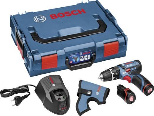 Bosch GSB 10,8-2-LI + 2 x 2,0 Ah Accu-slagmoersleutel incl. 2 accu's, incl. koffer 12 V 2 Ah Li-ion