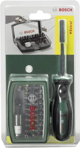 Bitset 32-delig Bosch Accessories Promoline 2607017189 Plat, Kruiskop Phillips, Kruiskop Pozidriv, Inbus, Torx, Torx BO