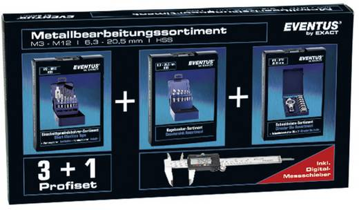 Exact Metaalbewerkingsassortiment set 30-delig incl. schuifmaat, draadtap, verzinkboor, d