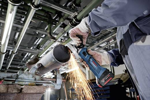 Bosch GWS 18-125 V-LI Haakse slijper 2 x 4,0 Ah Li-ionaccu