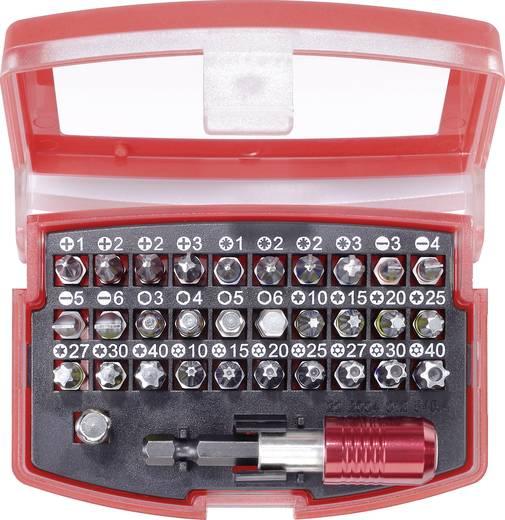 Bitset 32-delig TOOLCRAFT 820873 Plat, Kruiskop Phillips, Kruiskop Pozidriv, Inbus, T-profiel, T-profiel met gat