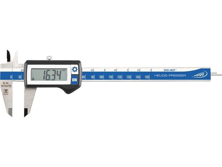 DIGI-MET zakschuifmaat Helios Preisser 1220 417 Meetbereik(en) 150 mm