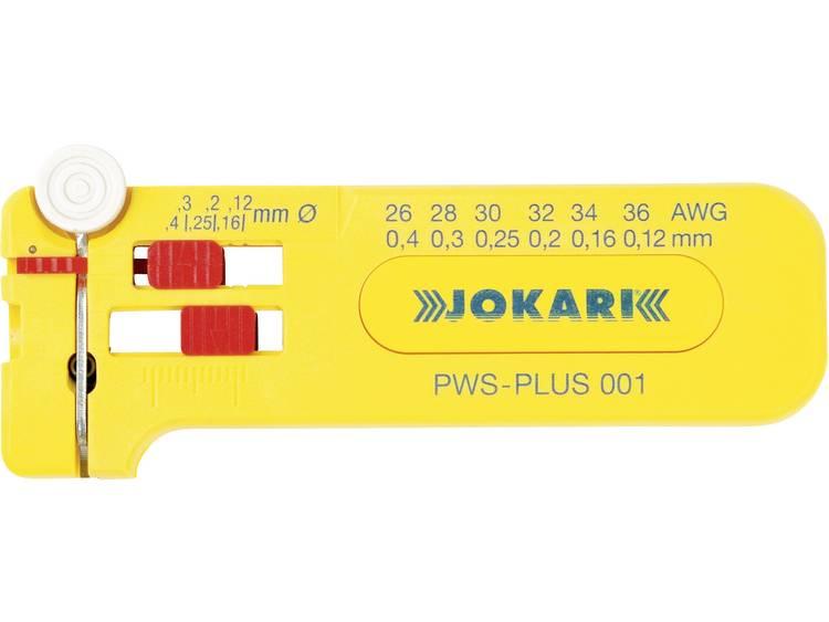Jokari PWS-PLUS 001 Micro-striptang PWS-Plus 001 Ø 0,12 0,40 mm, AWG 36 26 Kabels met een buitenmant