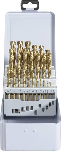 TOOLCRAFT 822606 HSS Metaal-spiraalboorset 25-delig TiN DIN 338 Cilinderschacht 1 set