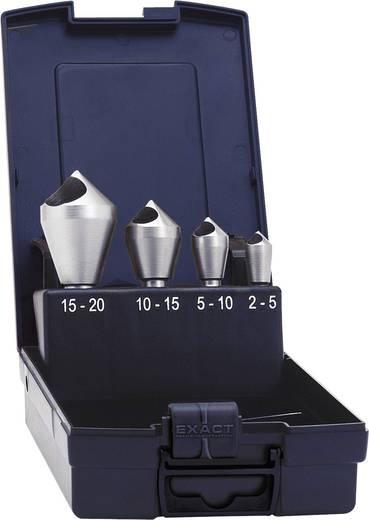 Cross-gat verzinkboor set 4-delig 10 mm, 14 mm, 21 mm, 28 mm HSS-E Exact 05426 Cilinderschacht 1 set
