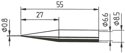 Ersa 842 SD Soldeerpunt Potloodvorm, verlengd Grootte soldeerpunt 0.8 mm