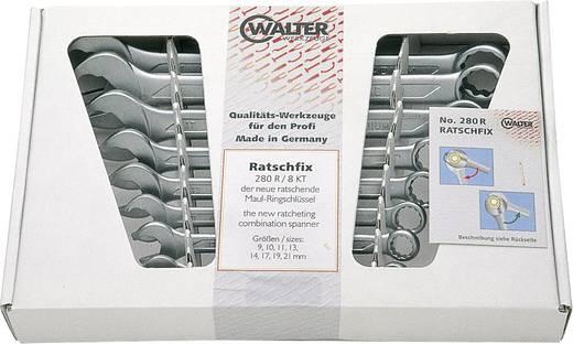 Walter Werkzeuge RING-MAULSCHLÜSSELSATZ 280/8MM 2800083120 Ring-steeksleutel set 8-delig 8 - 19 mm DIN 3113 Form A