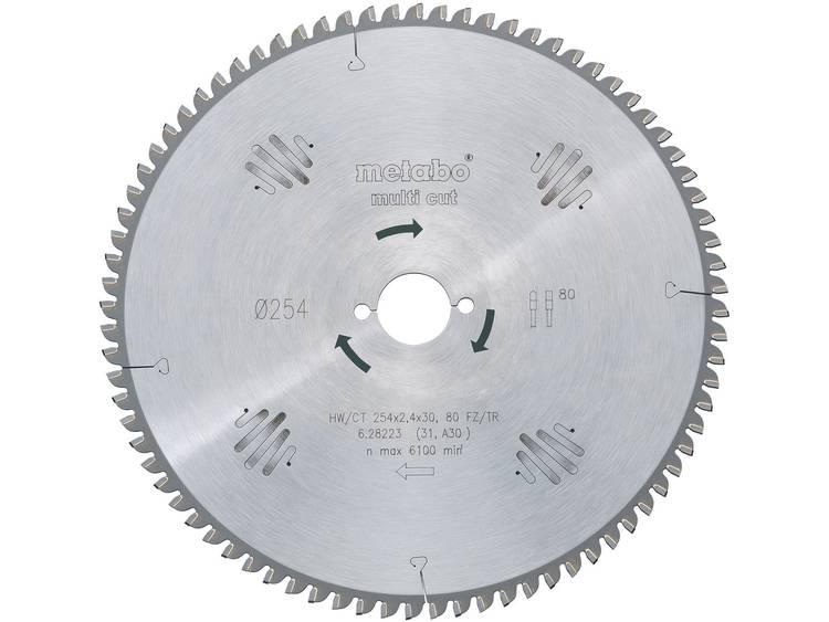 Metabo Cirkelzaagblad Hw-Ct 254X30,80Fz-Tz