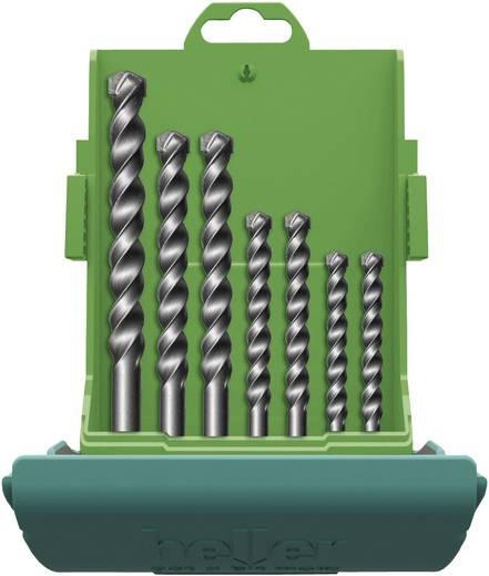 Heller 3015 18037 5 Carbide Steen-spiraalboor set 7-delig 4 mm, 5 mm, 6 mm, 8 mm, 10 mm, 12 mm Cilinderschacht 1 set