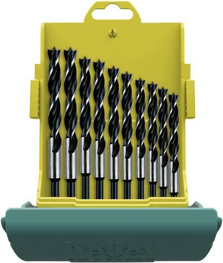 Hout-spiraalboor set 10-delig 3 mm, 4 mm, 5 mm, 6 mm, 7 mm, 8 mm, 9 mm, 10 mm, 11 mm, 12 mm Heller 24646 0 Cilinderscha