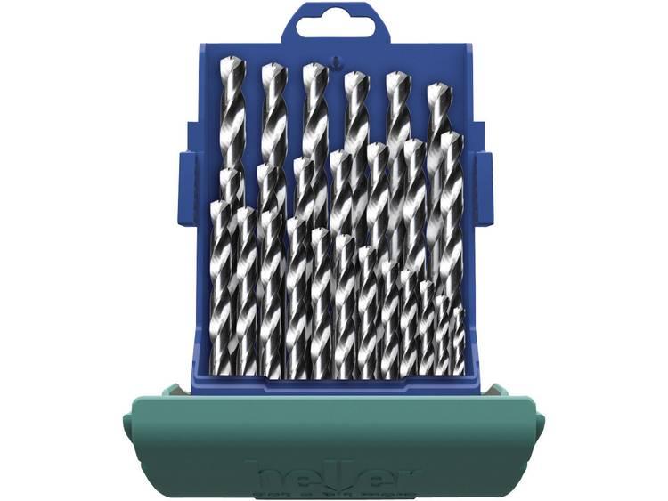 Heller 21965 5 HSS Metaal-spiraalboorset 25-delig kobalt DIN 338 Cilinderschacht 1 set