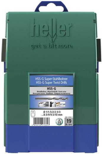 Heller 21961 7 HSS Metaal-spiraalboorset 19-delig geslepen DIN 338 Cilinderschacht 1 set