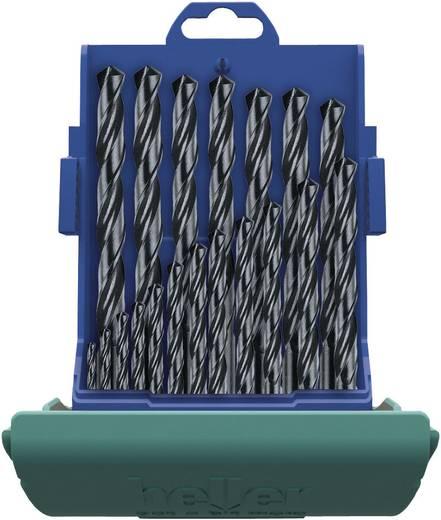 Heller 17737 5 HSS Metaal-spiraalboorset 19-delig rollenwals DIN 338 Cilinderschacht 1 set