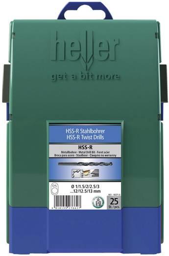 Heller 18371 0 HSS Metaal-spiraalboorset 25-delig rollenwals DIN 338 Cilinderschacht 1 set