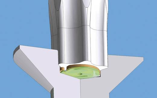 Elektronisch en fijnmechanisch Torx schroevendraaier Wiha TORX MAGIC SPRING T 15 X 60 Afm. schroevendraaier T 15 Koplengte: 60 mm