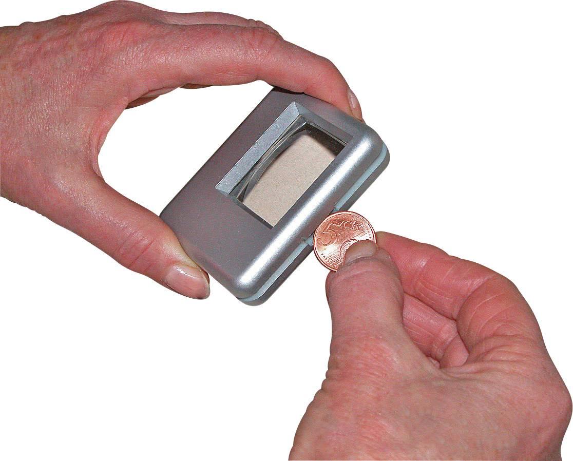 Leesloep met verlichting Lensgrootte: (l x b) 38 mm x 30 mm Zilver ...