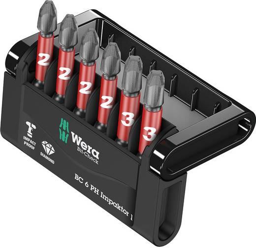 Bitset 6-delig Wera Mini-Check Impaktor 1 05057691001 Kruiskop Phillips Impactor technologie