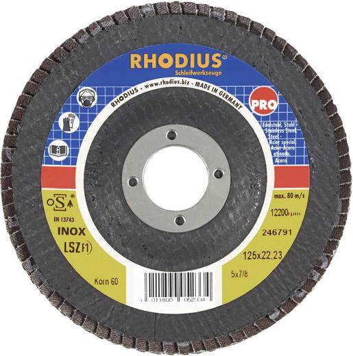 Lamellenslijpschijf LSZ F1 Rhodius 205586 Diameter 125 mm Binnendiameter 22.2 mm Korreling 80
