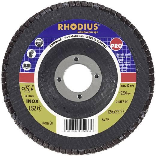 Lamellen schuurschijf Rhodius 205582 Diameter 115 mm Binnendiameter 22.2 mm Korreling 80