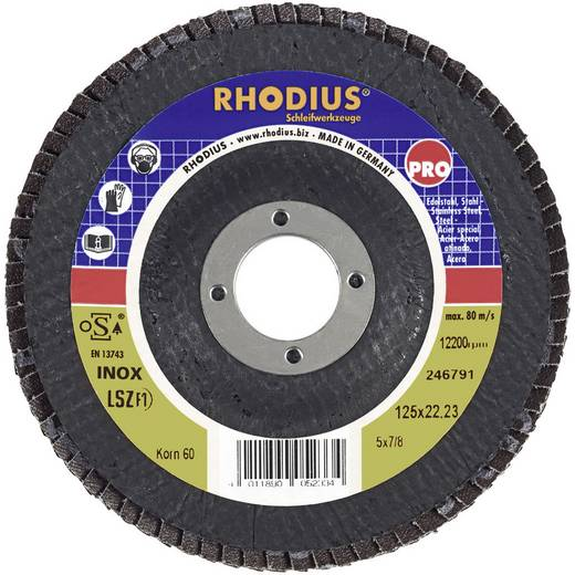 Lamellenslijpschijf LSZ F1 Rhodius 205580 Diameter 115 mm Binnendiameter 22.2 mm Korreling 40
