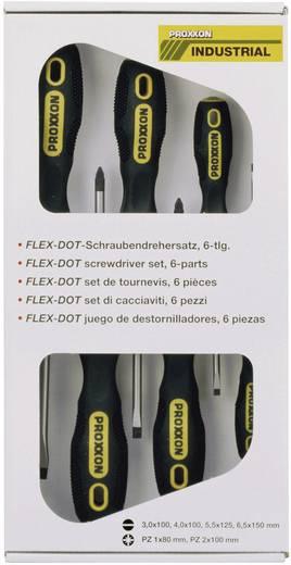 Proxxon Industrial FLEX-DOT Werkplaats Schroevendraaierset 6-delig Plat, Kruiskop Pozidriv
