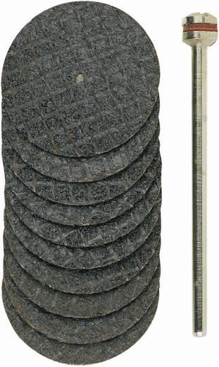 Aluminiumoxide doorslijpschijven, korrel 10, met wapening Proxxon Micromot 28 808 Diameter 22 mm 10 stuks