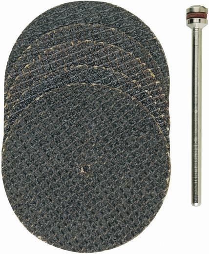 5er aluminiumoxide doorslijpschijven, met weefselbinding Proxxon Micromot 28 818 Diameter 38 mm 5 stuks