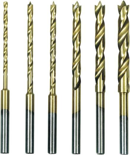 Proxxon Micromot 28 876 HSS Metaal-spiraalboorset 6-delig 1.5 mm, 2 mm, 2.5 mm, 3 mm, 3.5 mm, 4 mm TiN Cilinderschach
