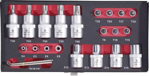 "TOOLCRAFT 826362 T-profiel Dopsleutel-bitinzetset 23-delig 1/4"" (6.3 mm), 1/2"" (12.5 mm)"