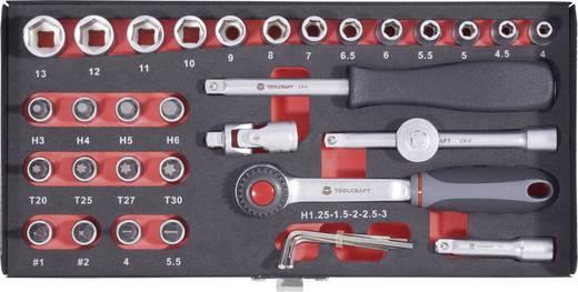 """Dopsleutelset Metrisch 1/4"""" (6.3 mm) 36-delig TOOLCRAFT 826363"""