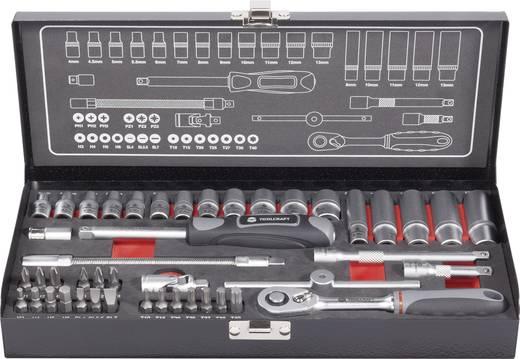 """Dopsleutelset Metrisch 1/4"""" (6.3 mm) 45-delig TOOLCRAFT 826386"""