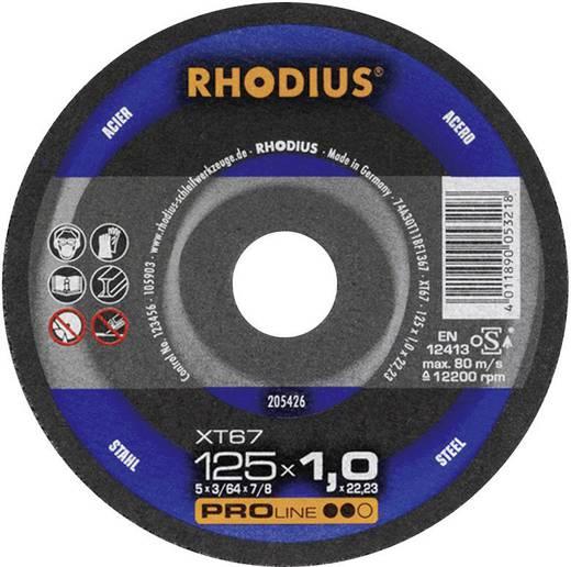 Doorslijpschijf XT67 Rhodius 205600 Diameter 125 mm 1 stuks