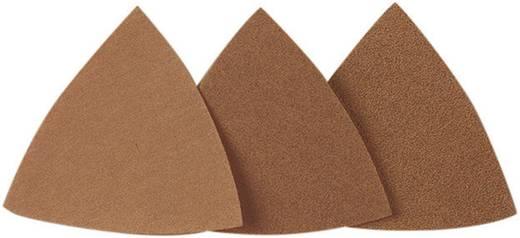 Delta schuurpapier met klittenband, ongeperforeerd Korrelgrootte 240 Hoekmaat 65 mm Proxxon Micromot 28 895 25 stuks