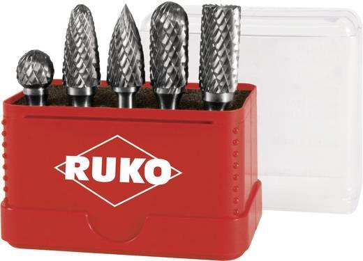 RUKO 116005 5-delige Set HM freesstiften Kogeldiameter 12 mm Hardmetaal Schacht-Ø 6 mm
