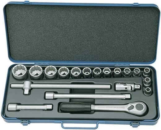 """Dopsleutelset Inch 1/2"""" (12.5 mm) 19-delig Walter Werkzeuge 1481 HU/06 SAE 19930"""