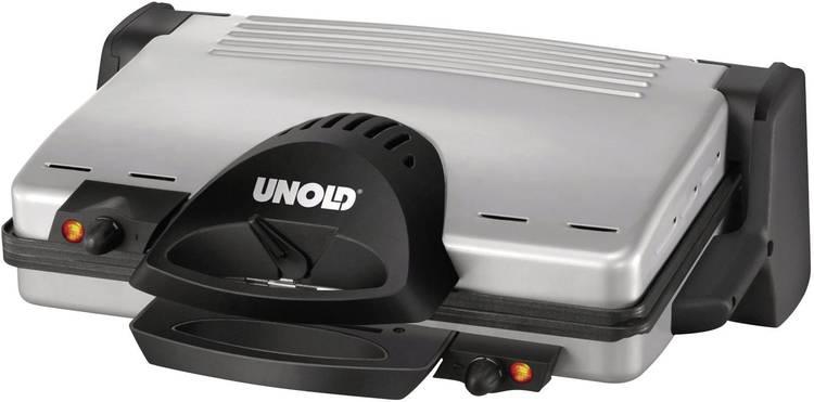 Image of Contactgrill Unold 8555 Elektrische met handmatige temperatuursinstelling RVS, Zwart
